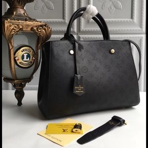 Louis Vuitton black Montaigne bag